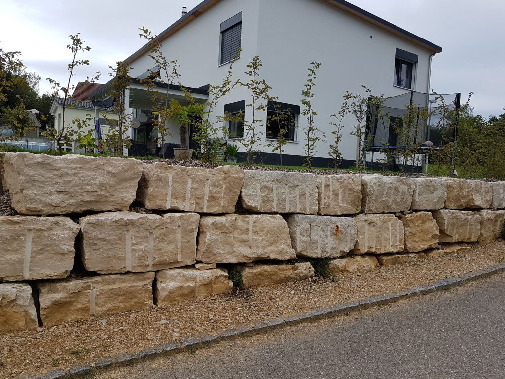 Gabion, Mur naturel